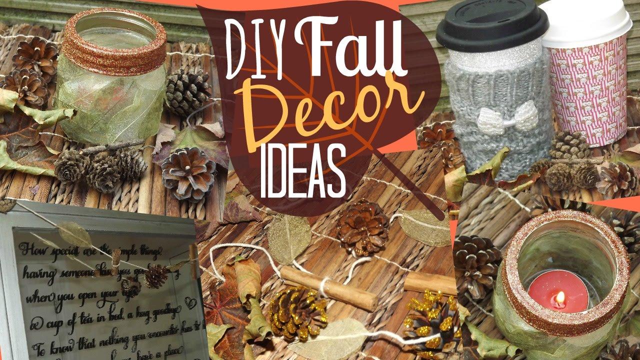 diy fall decor ideas youtube. Black Bedroom Furniture Sets. Home Design Ideas