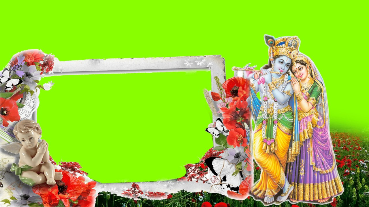 Radha krishna green screen   romantic & love   best for wedding & other video   use it in your vid