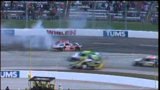 Kurt Busch Takes Out Ryan Newman NSCS Tums Fast Relief 500 Martinsville 2011.mpg