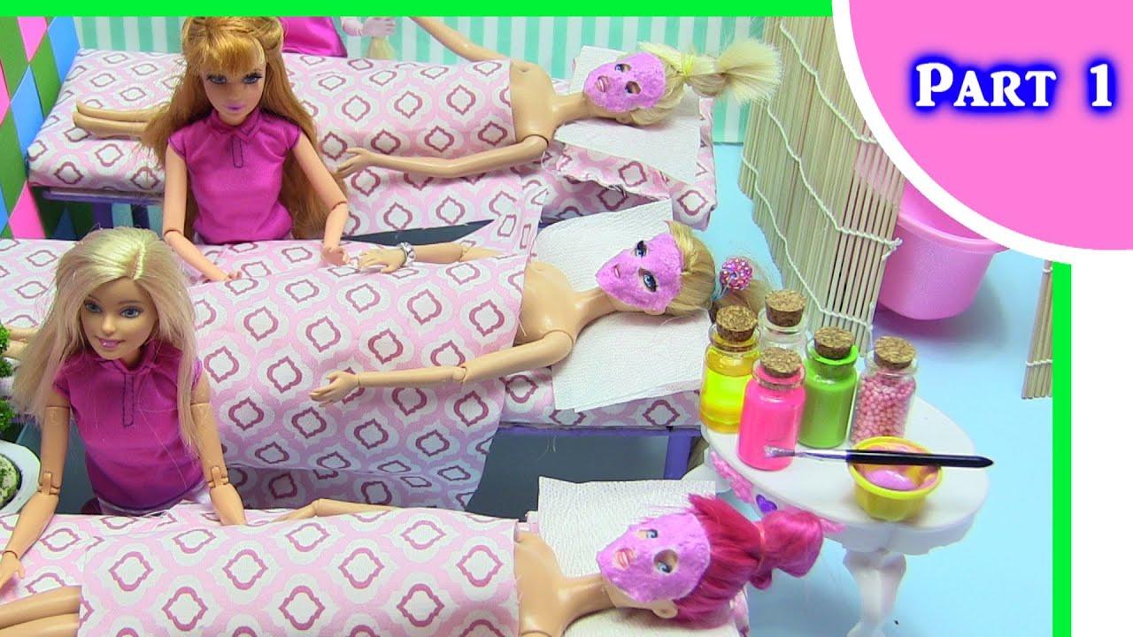 Barbie Miniature Spa Dollhouse Part 1 Foam Slime Foot Bath Hot Boneka Hello Kitty Wedding14ampquotn A Rock Massage Rainbow Collector