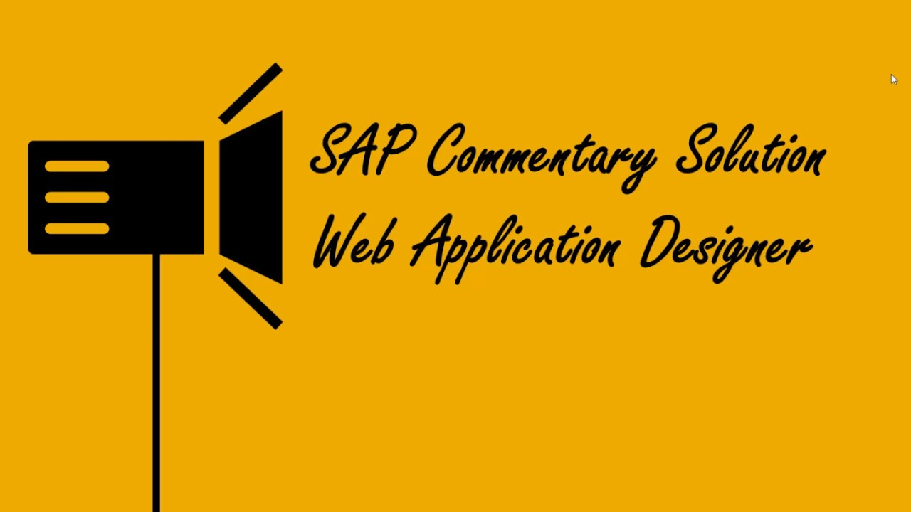 Sap commentary solution web application designer german youtube sap commentary solution web application designer german baditri Images