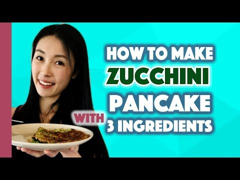 3 Ingredient Healthy Zucchini Pancake Under 330 Calories Easy dinner in 10 mins!