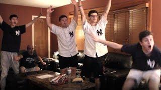 Yankees Fan Reaction - Wild Card - Athletics 2 Yankees 7