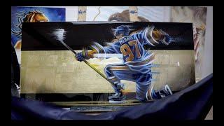 CONNOR MCDAVID Painting - Edmonton Oilers NHL -Sevigny Art