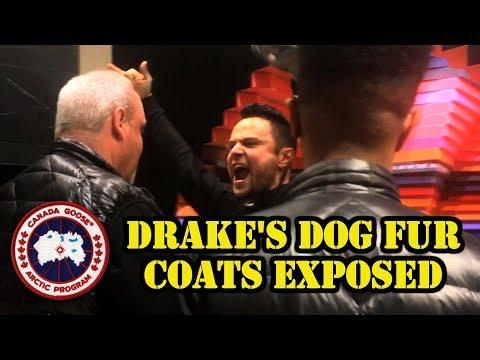 VEGAN RAPPER CRASHES DRAKE'S DOG FUR STORE | Canada Goose-OVO Exposed