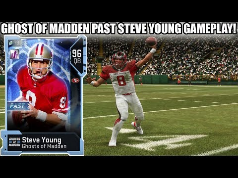 GHOST OF MADDEN PAST STEVE YOUNG LEADS LAST SECOND DRIVE! 96 GHOST STEVE YOUNG GAMEPLAY! | MADDEN 19