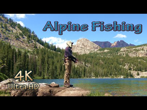 Hiking Camping Fishing In Wyoming's Wind River Mountains/4K