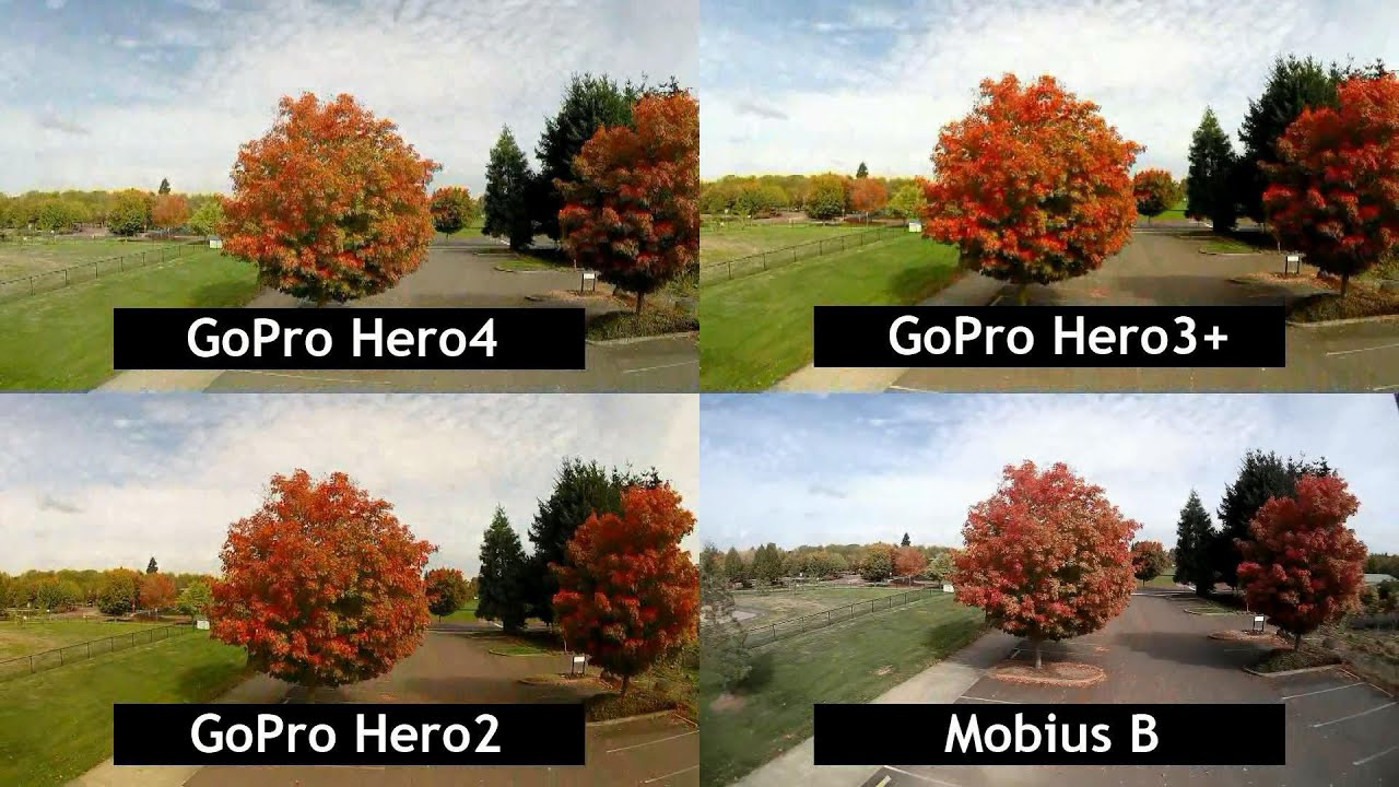 Rftc Side By Comparison Of Gopro Hero 4 3 Telkomsel 17 Session 2 And Mobius B