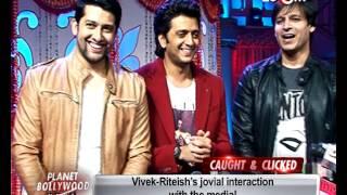 Grand Masti | Vivek Oberoi, Riteish Deshmukh, Aftab Shivdasani promote their film on a TV show