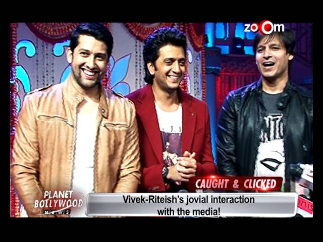 Grand Masti | Vivek Oberoi, Riteish Deshmukh, Aftab Shivdasani promote their film on a TV show Travel Video