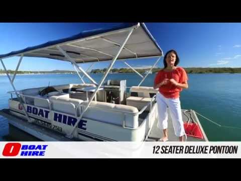 O Boat Hire - 12 Seater Deluxe Pontoon