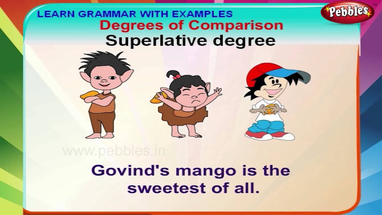 Degrees of comparison english grammar lessons for beginners kids youtube also rh