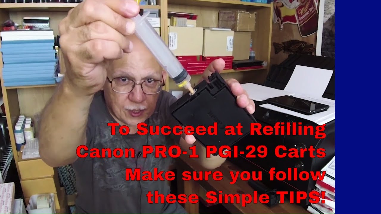 Canon Pro 1 Pgi 29 Must Know Refilling Tips Youtube Ink Cartridge Red