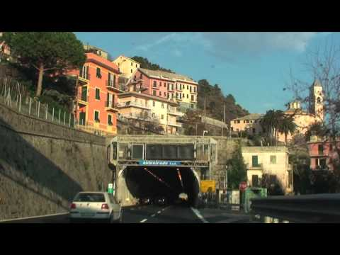 Scenic drive from Cannes, Southern France to Rome, Italy