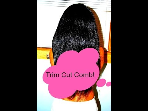 how to trim cut and b to obtain or maintain longer hair youtube