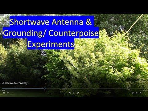 Shortwave radio antenna and ground demonstration