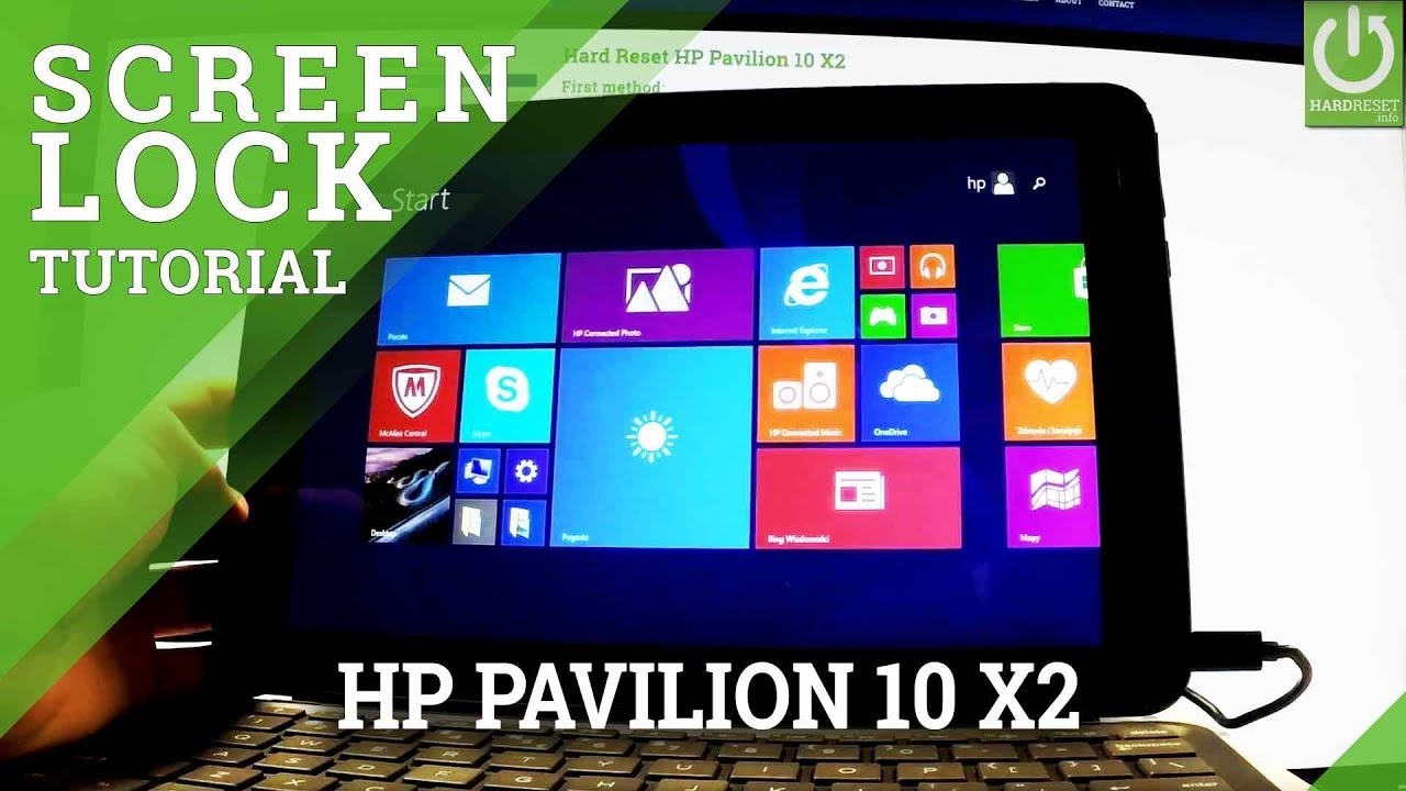 How to Set Up Password in HP Pavilion 10 X2 - Windows Password