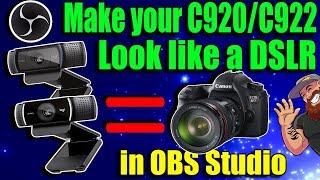 Make you C922/C920 look like a DSLR using Filters!! **FIX - Saving Camera Settings**