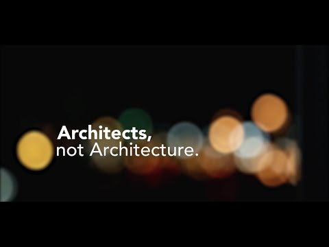 Hamburg Edition 01 - Architects, not Architecture.