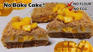 MANGO GARAHAM CAKE! Ang Sarap! / NO BAKE / NO STEAM / NO SPRINGFORM PAN!