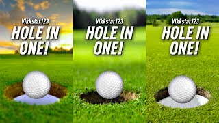 HOLE IN ONE ON EVERY COURSE?! - GOLF IT
