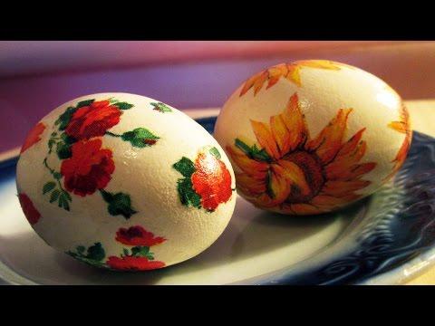 яиц для декупажа пасхальных фото салфетки