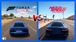 Forza Horizon 3 Vs NFS PayBack Audi R8 V10 Plus Sound Comparison