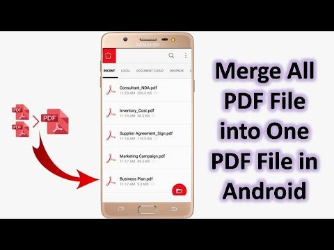 How To Merge Multiple PDF File Into One PDF File On Android Hindi/Urdu