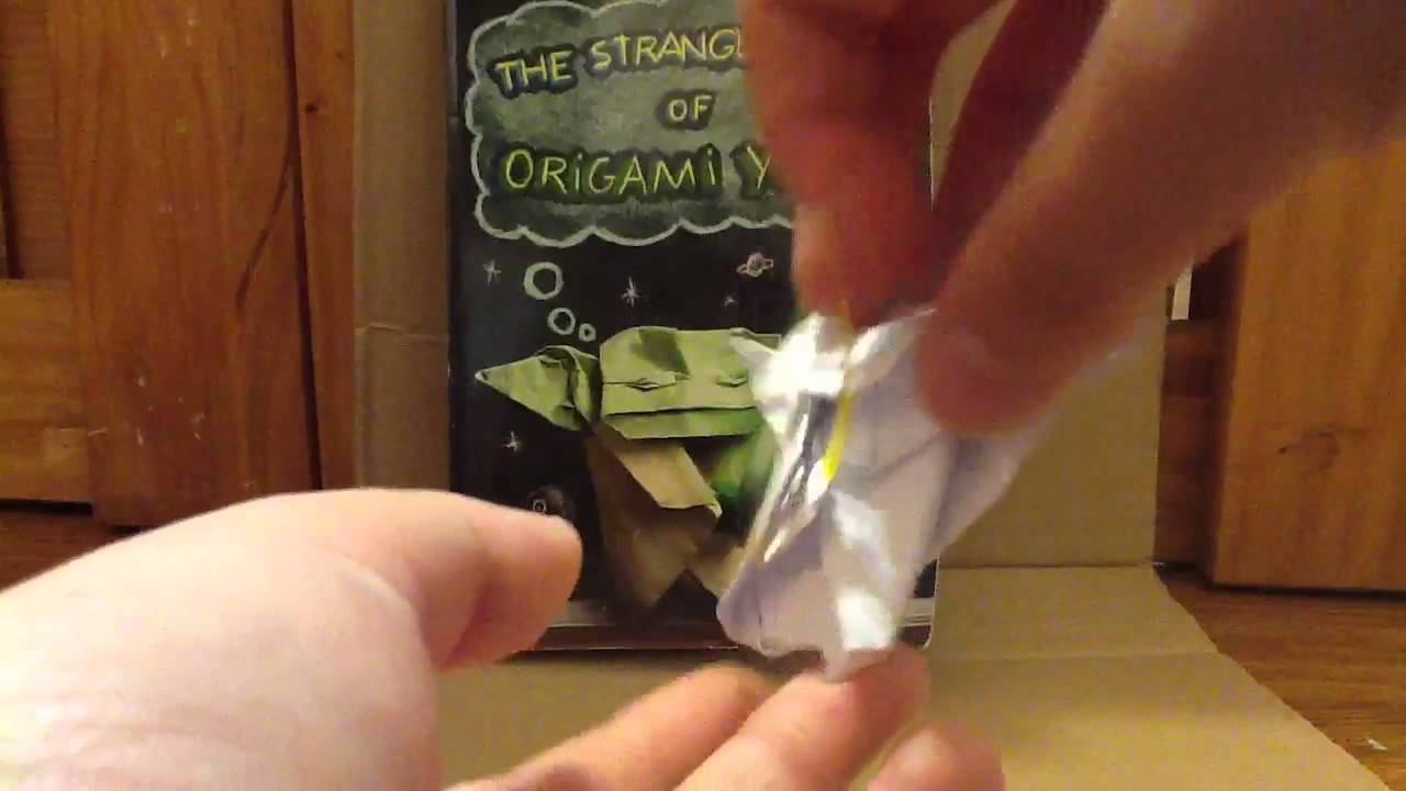 Inside Of My Origami Cover Yoda