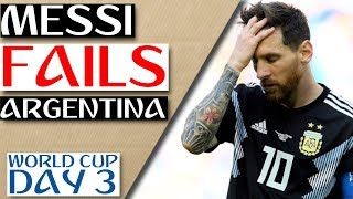 World Cup Daily: MESSI Fails Argentina in DRAW vs ICELAND! - 2018 World Cup Day 3