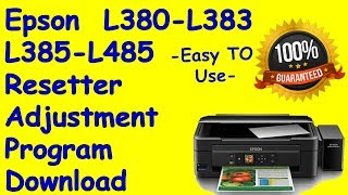 Reset epson l380 l383 l385 l485 waste ink pad counter video