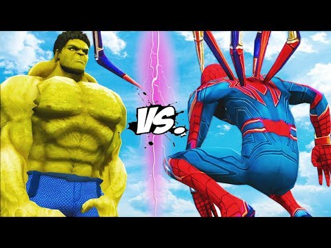 BIG HULK VS IRON SPIDER - THE INCREDIBLE HULK VS SPIDER-MAN (INFINITY WAR)