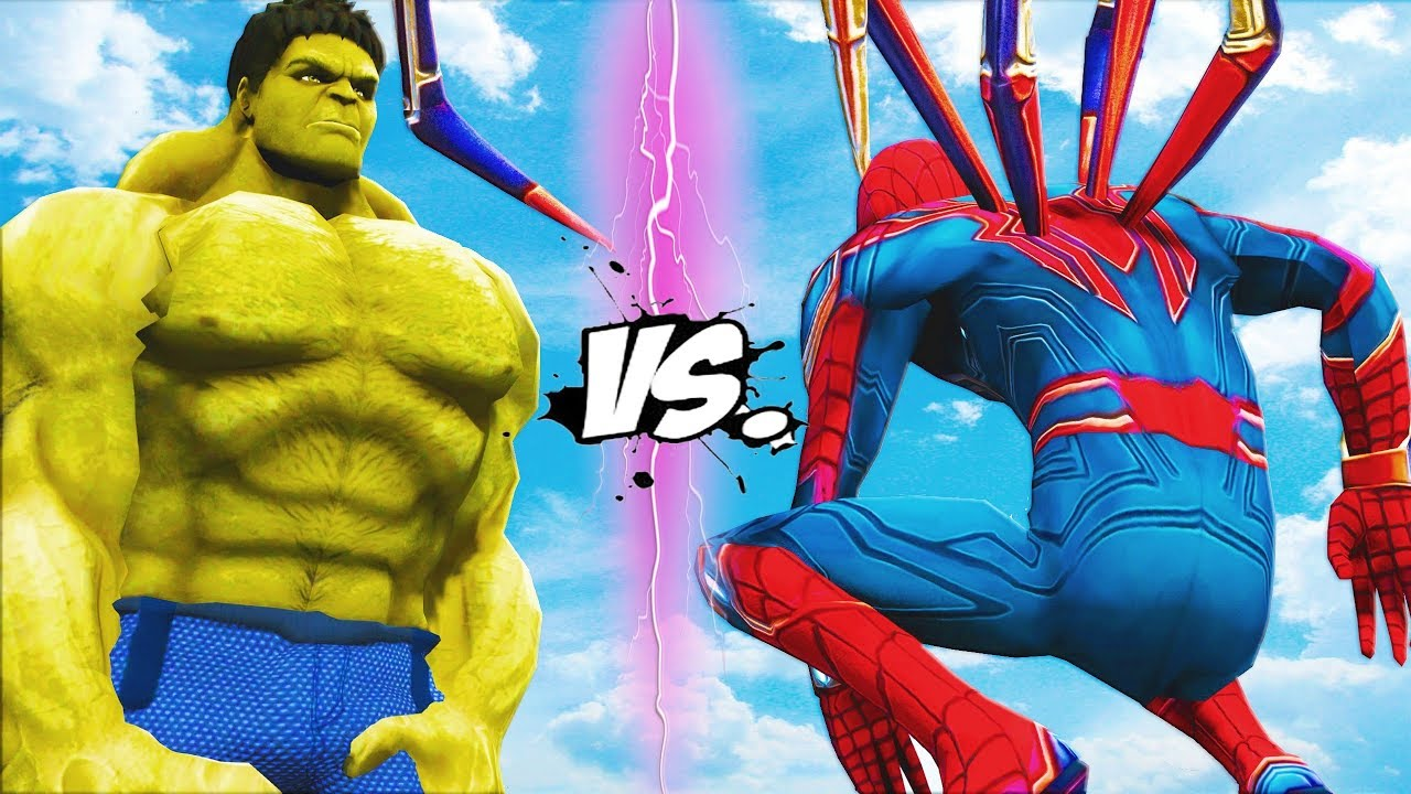 Big Hulk Vs Iron Spider The Incredible Hulk Vs Spider
