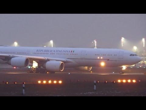 ITALIAN Air Force One Airbus A340-500 [I-TALY] Takeoff from Berlin Tegel Airport (TXL) [Full HD]