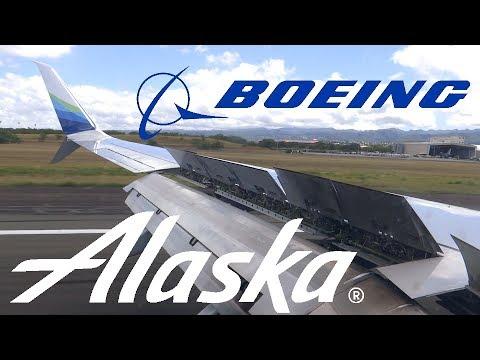 HD Alaska Airlines Boeing 737-990 N494AS Landing at Honolulu International Airport