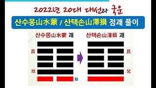 주역 산수몽 괘와 산택손 괘 초효로 본 2022년 20대 대선과 국운 2