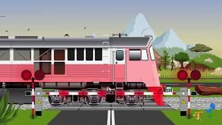 Train crossing with barriers for kids. Przejazd kolejowy ze szlabanami dla dzieci.
