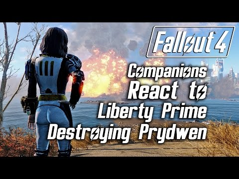 Fallout 4 - Companions React to Liberty Prime Destroying the Prydwen