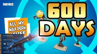 All My Maxed Stuff - 600 days of Fortnite | Fortnite Account Status Save The World