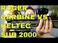 RUGER CARBINE VS KELTEC SUB 2000 GEN 2 9MM SHOWDOWN