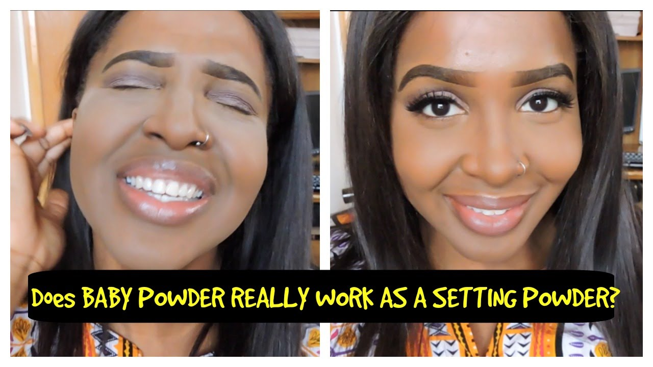 DOES BABY POWDER REALLY WORK AS A SETTING POWDER?