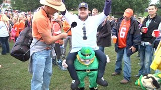 Notre Dame Fans talk about Clemson, the weather, and the Pope: Tailgating for Tigers