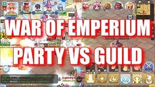 1 PARTY ATTACKING WHOLE GUILD CASTE, Party vs Guilds Priest POV