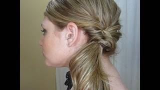 quick fancy side ponytail