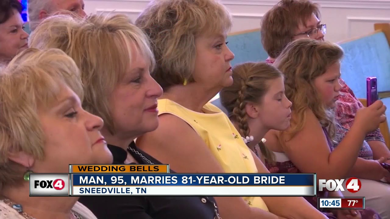 Man, 95, marries 81-year-old bride - YouTube
