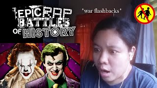 The Joker Vs Pennywise Epic Rap Battles of History || REACTION