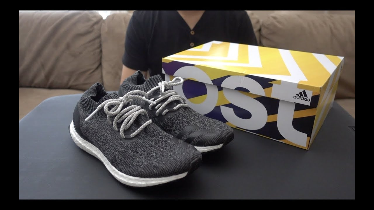 b2a330cb8528c Ultra Boost Uncaged Dark Grey UNBOXING   LACE SWAP - YouTube