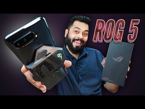 ASUS ROG Phone 5 Unboxing & First Look ⚡ Crazy Fast Gaming Beast!
