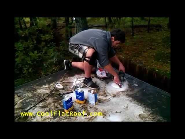 PVC / TPO Flat Roof Repair by RoofRepair101