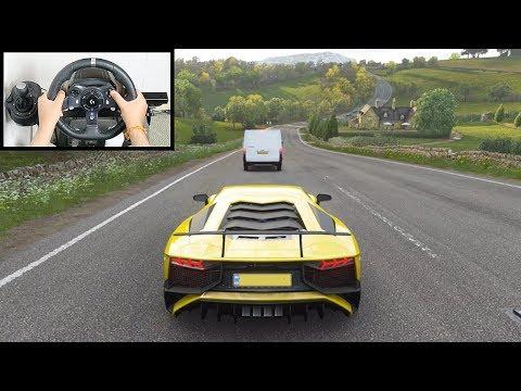 Forza Horizon 4 Lamborghini Aventador SV (Logitech G920 Steering Wheel) Gameplay